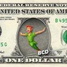 PETER PAN $ REAL Dollar Bill Disney Cash Money Memorabilia Collectible Celebrity