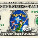 PETER PAN Movie - REAL Dollar Bill Disney Cash Money Memorabilia Collectible