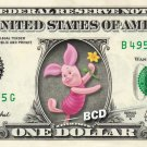 PIGLET Winnie Pooh - REAL Dollar Bill Disney Cash Money Memorabilia Collectible
