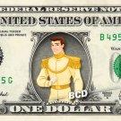 PRINCE CHARMING - Cinderella - on REAL Dollar Bill Disney Cash Money Memorabilia