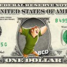 QUASIMODO Hunchback of Notre Dame on REAL Dollar Bill Disney Cash Money Bank