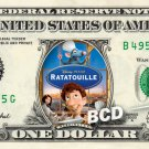 RATATOUILLE Movie on REAL Dollar Bill Disney Cash Money Memorabilia Collectible