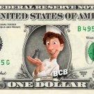 RATATOUILLE on REAL Dollar Bill Disney Cash Money Memorabilia Collectible Bank