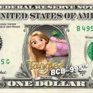 RAPUNZEL Tangled on REAL Dollar Bill Disney Cash Money Memorabilia Collectible
