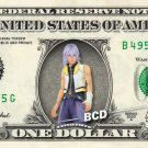 RIKU Kingdom Hearts on REAL Dollar Bill Disney Cash Money Memorabilia Bank Note