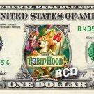 ROBIN HOOD Movie on REAL Dollar Bill Disney Cash Money Memorabilia Collectible