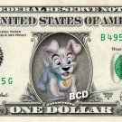 SCAMP - Lady & Tramp REAL Dollar Bill Disney Cash Money Memorabilia Collectible