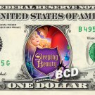 SLEEPING BEAUTY Movie REAL Dollar Bill Disney Cash Money Memorabilia Collectible