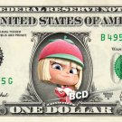 TAFFYTA MUTTONFUDGE Wreck-It Ralph - REAL Dollar Bill Disney Cash Money Bank