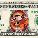 THE INCREDIBLES - REAL Dollar Bill Disney Cash Money Memorabilia Collectible