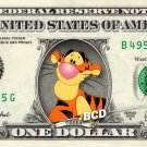 TIGGER Winnie Pooh on REAL Dollar Bill Disney Cash Money Memorabilia Collectible