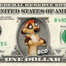 TIMON - Lion King - REAL Dollar Bill Disney Cash Money Memorabilia Collectible