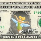 TINKERBELL REAL Dollar Bill Disney Cash Money Memorabilia Collectible Celebrity