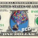 UP Movie $ REAL Dollar Bill Disney Cash Money Memorabilia Collectible Celebrity