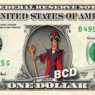 JAFAR - Aladdin - REAL Dollar Bill Disney Cash Money Memorabilia Collectible