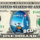 WALL-E Movie - REAL Dollar Bill Disney Cash Money Memorabilia Collectible Bank