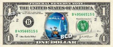 WALL-E Movie - REAL Dollar Bill Disney Cash Money Memorabilia Collectible Bank