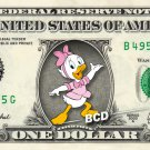 WEBBY VANDERQUACK - Ducktales - REAL Dollar Bill Disney Cash Money Memorabilia