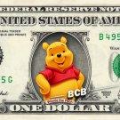 WINNIE POOH - REAL Dollar Bill Disney Cash Money Memorabilia Collectible Bank