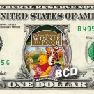 WINNIE THE POOH Movie REAL Dollar Bill Disney Cash Money Memorabilia Collectible