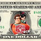 WRECK IT RALPH - REAL Dollar Bill Disney Cash Money Memorabilia Collectible Bank