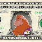 ZEUS - Hercules - REAL Dollar Bill Disney Cash Money Memorabilia Collectible