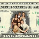 FRIENDS TV Show Schwimmer Aniston Kudrow Cox on REAL Dollar Bill Cash Money Bank