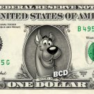 SCOOBY DOO on REAL Dollar Bill - Cash Money Bank Note Currency Dinero Celebrity