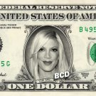 TORI SPELLING on REAL Dollar Bill Cash Money Bank Note Currency Dinero Celebrity