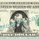 DIXIE CHICKS on REAL Dollar Bill Cash Money Memorabilia Collectible Celebrity
