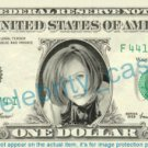 GILLIAN ANDERSON - REAL Dollar Bill Cash Money Memorabilia Collectible Celebrity