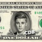 JUSTIN BIEBER on REAL Dollar Bill Collectible Celebrity Cash Memorabilia Money