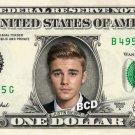 JUSTIN BIEBER on REAL Dollar Bill Collectible Celebrity Cash Memorabilia Money