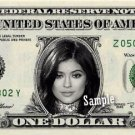 KYLIE JENNER on a REAL Dollar Bill Kardashian Collectible Cash Memorabilia Money