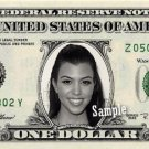 KOURTNEY KARDASHIAN on REAL Dollar Bill Collectible Cash Memorabilia Money Bank