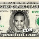 CHRIS BROWN on a REAL Dollar Bill Cash Money Memorabilia Collectible Celebrity $