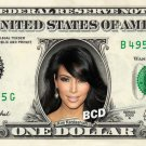 KIM KARDASHIAN on REAL Dollar Bill Collectible Celebrity Cash Memorabilia Money