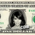 Kim Kardashian REAL Dollar Bill Collectible Celebrity Cash Memorabilia Money $