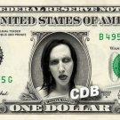 MARILYN MANSON on REAL Dollar Bill Cash Money Memorabilia Collectible Celebrity