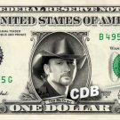 TIM MCGRAW on REAL Dollar Bill Cash Money Memorabilia Collectible Celebrity Bank