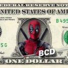 Deadpool REAL Dollar Bill Marvel Disney Collectible Celebrity Cash Memorabilia