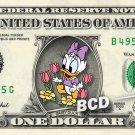 Baby DAISY DUCK on a REAL Dollar Bill Disney Cash Money Memorabilia Collectible