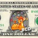 BAMBI Butterflies on REAL Dollar Bill Disney Cash Money Memorabilia Collectible