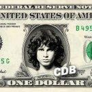 JIM MORRISON on a REAL Dollar Bill Cash Money Memorabilia Collectible Celebrity
