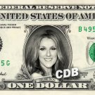CELINE DION on a REAL Dollar Bill Cash Money Memorabilia Collectible Celebrity