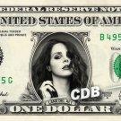 LANA DEL REY on a REAL Dollar Bill Cash Money Memorabilia Collectible Celebrity