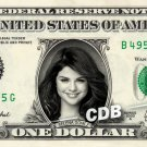 SELENA GOMEZ on a REAL Dollar Bill Cash Money Memorabilia Collectible Celebrity