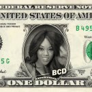 ALICIA FOX on a REAL Dollar Bill WWE Cash Money Memorabilia Collectible Celebrity