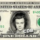 HARRY STYLES on REAL Dollar Bill One Direction Cash Money Memorabilia Celebrity
