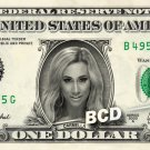 CARMELLA on a REAL Dollar Bill WWE Cash Money Memorabilia Collectible Celebrity